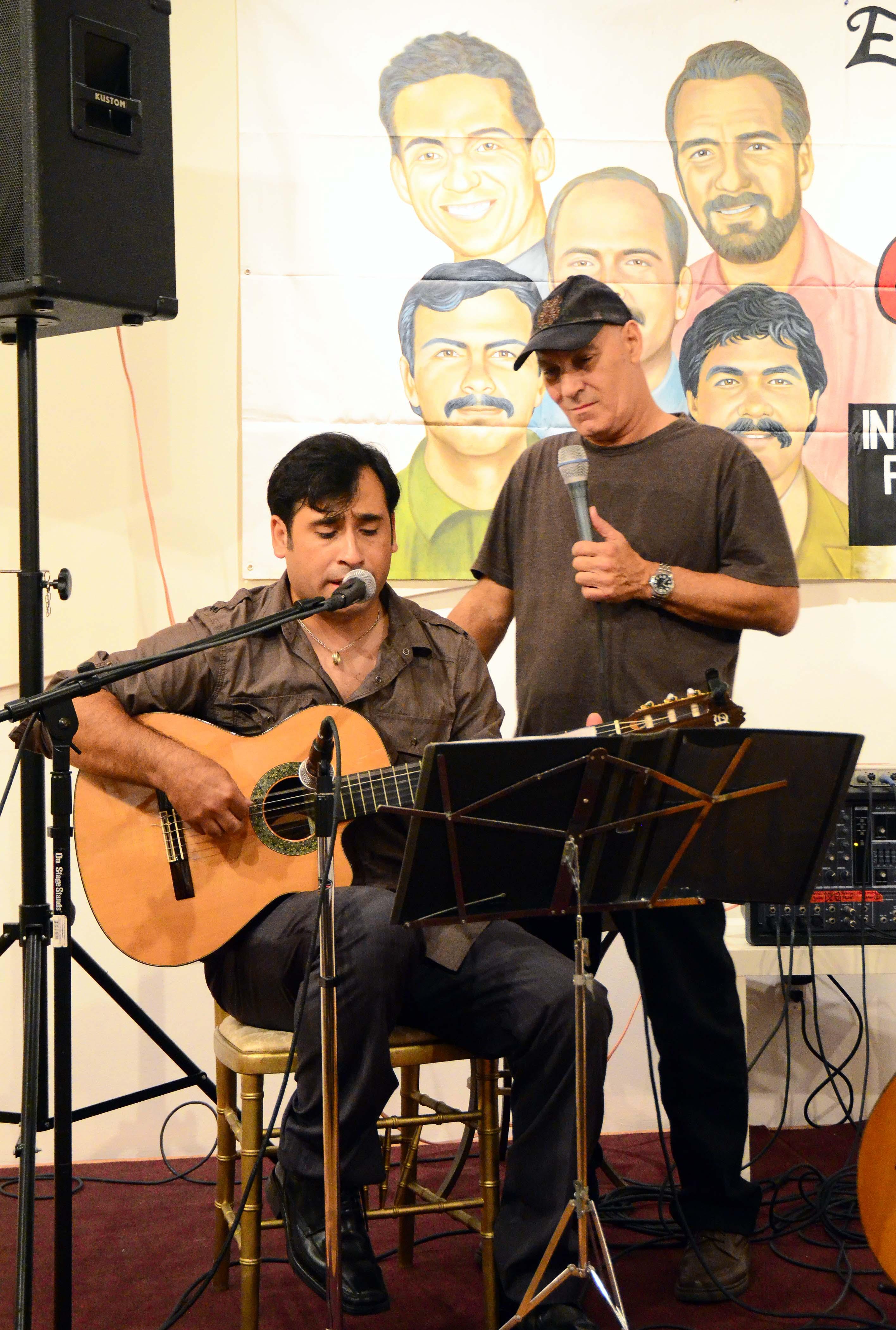 Patricio Zamorano con Vicente Feliu