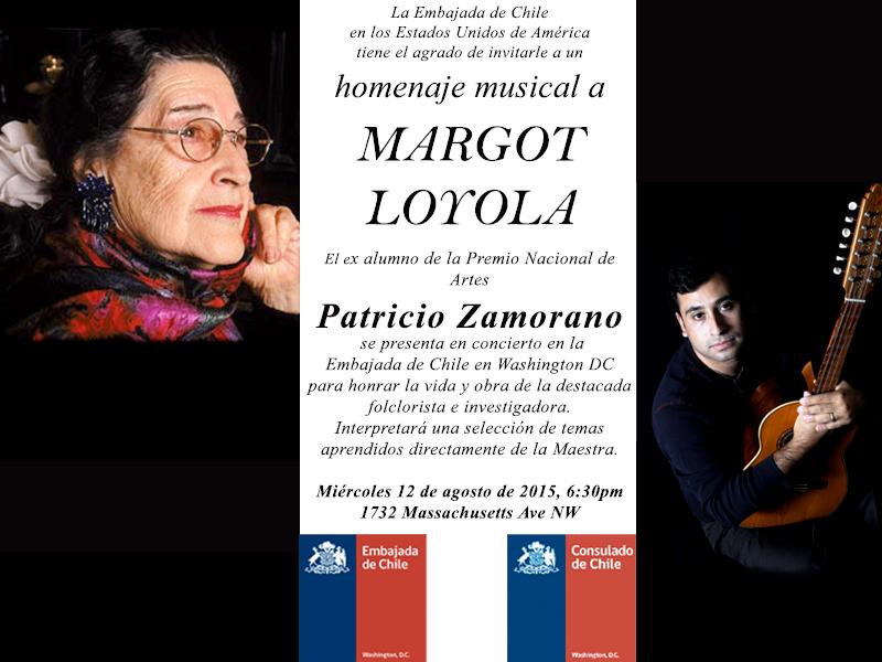 Homenaje Concierto Margot Loyola Patricio Zamorano PNG