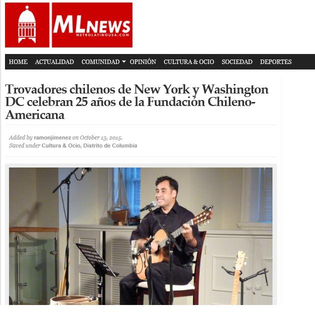 Portada MLN Patricio Zamorano 15 oct 2015 Concierto Georgetown Fundacion