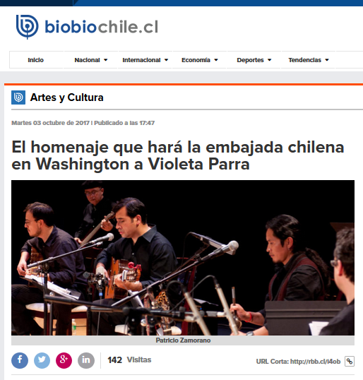Screen Shot Bio Bio Patricio Zamorano Violeta Parra Oct 3 2017