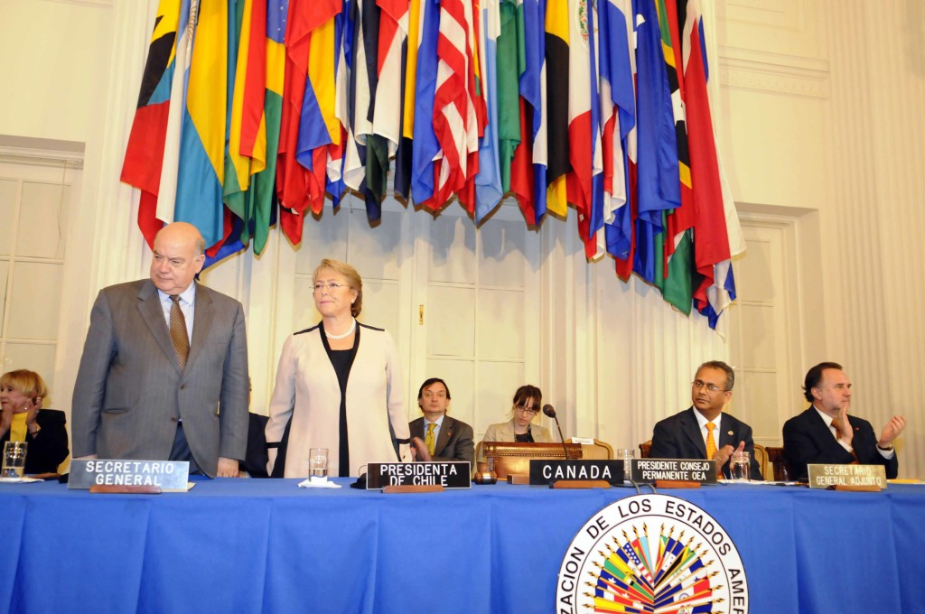 Sesión Protocolar del Consejo Permanente para recibir a la Presidenta de Chile Michelle Bachelet Protocolary Meeting of the OAS Permanent Council to receive Her Excellency Michelle Bachelet, President of Chile