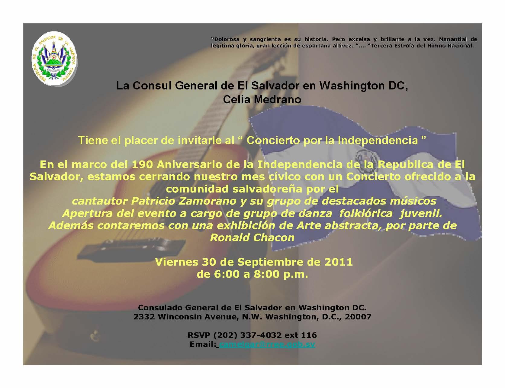 Invitacion Concierto 30 de Septiembre 2